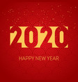 happy new year 2020 background cover business vector image vector image