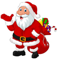 Happy Santa with sack vector image vector image