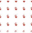 heart lock icon pattern seamless white background vector image vector image