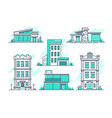 houses and buildings property and accommodation vector image