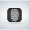 id app icon fingerprint icon isolated on modern vector image vector image