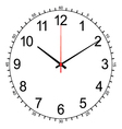 image of wall clock isolated on white vector image vector image