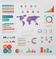 infographic graphic business diagram chart banner vector image vector image
