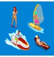 Isometric People on Vacations vector image