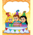 kids party theme image 2 vector image