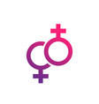 lesbian couple icon vector image vector image