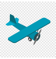 light aircraft isometric icon vector image vector image