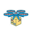 line style drone icon remote air drone with vector image vector image