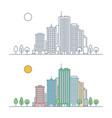 linear city landscape concept vector image