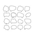 linear speech bubbles scribe round shapes for vector image