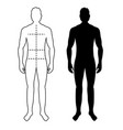 man anatomy silhouette size human body full vector image vector image