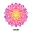 Mandala flower drawing ethnic colorful vector image