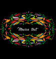 mexican traditional textile embroidery style vector image vector image