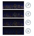 Night Time Skyline Set of vector image vector image