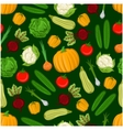 Organic vegetables seamless background vector image vector image