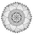 ornamental floral mandala flower ornament pattern vector image