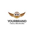 owl logo design concept template vector image vector image