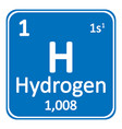 periodic table element hydrogen icon vector image vector image