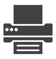 printer glyph icon web and mobile fax sign vector image