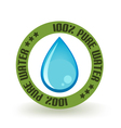 Pure Water Icon vector image vector image