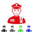 sad army general icon vector image vector image