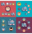 Set elements of infographics smart home vector image