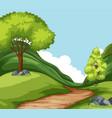 set of nature landscape vector image vector image
