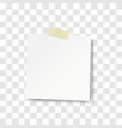 sheet of white paper with shadow vector image