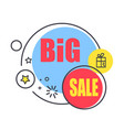 special offer promo sticker with stars advert logo vector image vector image