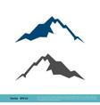 stone rock mountain icon logo template design vector image vector image