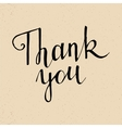 thank you handwritten lettering vector image vector image