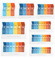 timeline infographics set templates colorful vector image vector image