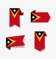 timor-leste flag stickers and labels vector image vector image