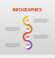 vertical snake steps infographics - can vector image vector image