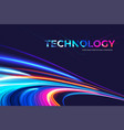 vibrant light trails theme design vector image vector image