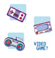 videogame retro portable consoles vector image vector image