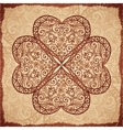 Vintage beige ornate clover background vector image vector image