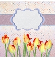 Vintage tulips card with polka dot EPS 10 vector image vector image