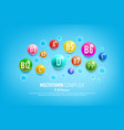 vitamin complex pills and capsules vector image vector image