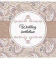 Wedding invitation in beige style vector image vector image