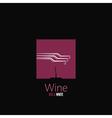 wine bottle design background vector image