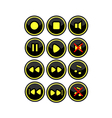 Buttons for radio vector image