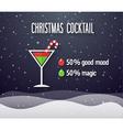 Christmas Cocktail vector image