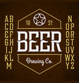 beer label style font with sample design ideal vector image