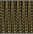 gold garland pattern vector image