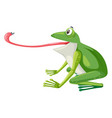 a green frog on white background vector image vector image