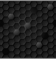 abstract black hexagon seamless pattern eps vector image