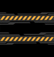 abstract grey black cyber yellow line caution vector image