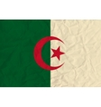 Algeria paper flag vector image vector image