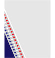 american abstract flag corner border frame vector image vector image